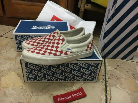 Vans OG slip on checkerboard nt supreme patta palace thrasher