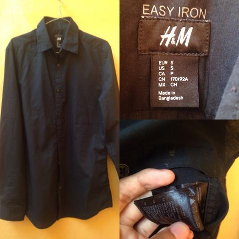 H&M easy iron black
