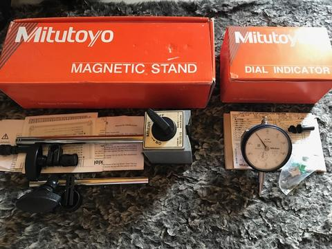 Mitutoyo Dial Gauge Indicator Set (Include Magnetic Stand)