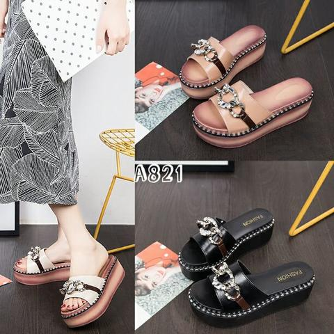 Wedges Slip On Fashion Korea SZD#A821