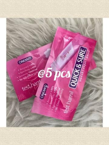 5 pcs - Tes pack onemed quick & sure / tes kehamilan
