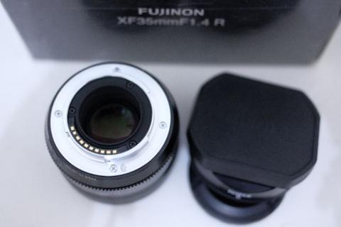 Lensa Fix Fuji Fujinon XF 35 f1.4 R Fullset Mint Condition