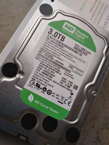HDD WD Green 3TB, 5400RPM Sehat 1000%, Bandung