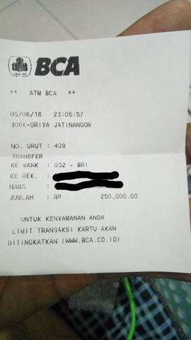 TIKET TRAVEL 1 SEAT (BDG-PWT)