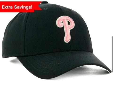 topi mlb baseball philadelphia phillies pink logo original