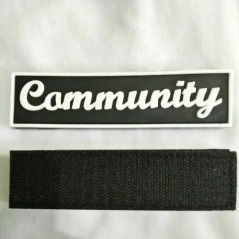 patch rubber/label dada community,.