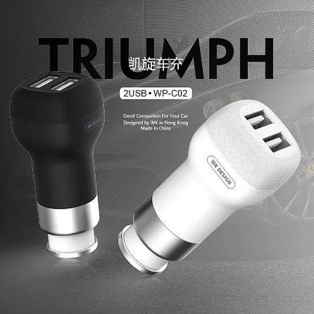 Charger Mobil / Car Charger WK Design TRIUMPH 2 USB