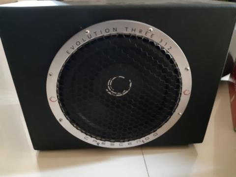 subwoofer 12 inch crescendo evolution three 312