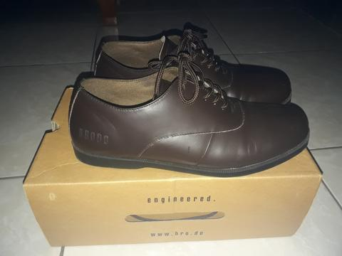 Sepatu brodo natuna brown black sole 100% original
