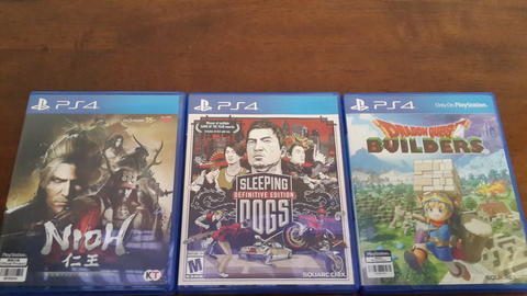 GAMES PS4 SECOND LIKE NEW MURAH!! NIOH COMPLETE, SLEEPING DOGS, DRAGON QUEST