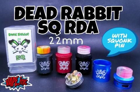 DEAD RABBIT SQ RDA 22mm by Hellvape with Squonk Pin High Quality Clone