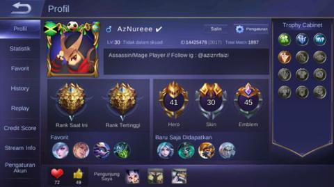 Jual Akun Mobile Legend Android !