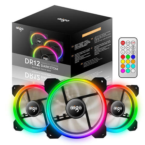 [JoJo CompTech] aigo DR12 3IN1 RGB Double Ring Fan 3 Pack with Remote Controller