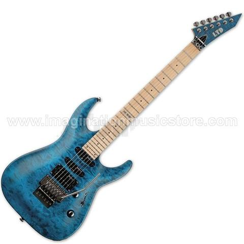 [IMAGINATION MUSIC STORE] ESP LTD MH-103QM Quilted Maple in See Thru Blue