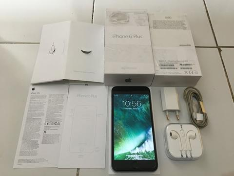 IPHONE 6 PLUS GREY 64GB IOS 10 FULLSET MULUUSS NORMAL MURAAHH 4100 SAJA [MALANG]