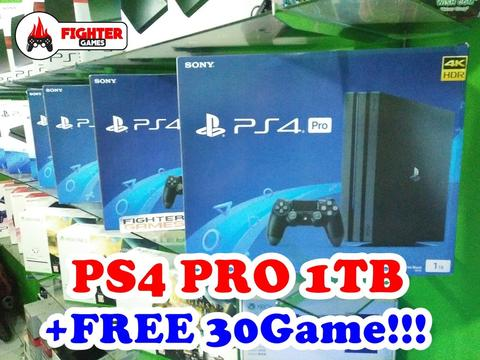 PS4 PRO 1TB +30GAME BISA PILIH GAME READY GOJEK