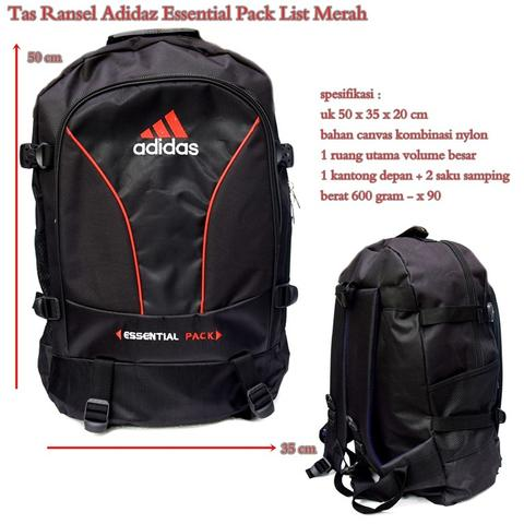 Tas Ransel Adidaz Essential Pack List Merah