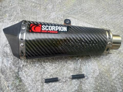 knalpot scorpion red power carbon serket original silincer only