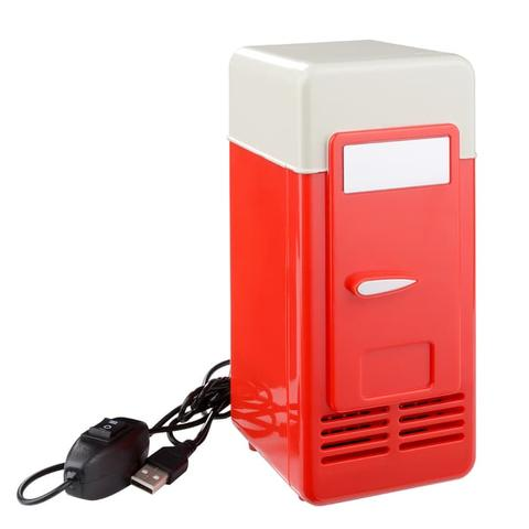 HS610 Kulkas Mini USB LED PC Refrigerator Drink Can Cooler Warmer