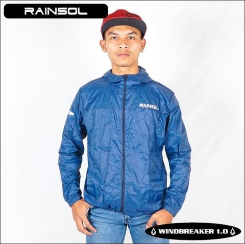 Jaket Rainsol Windbreaker / Anti Angin BIRU