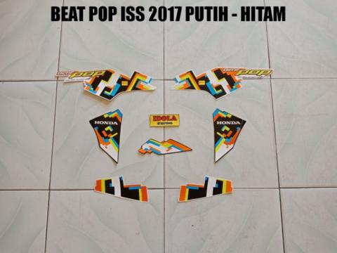 Striping Beat Pop ISS 2017 Putih - Hitam