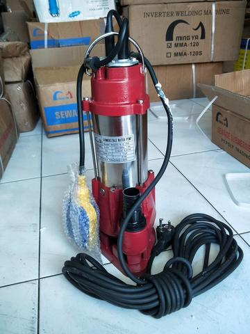 "Pompa Celup Air Kotor Stainless 1"" Auto 180w Pompa Celup Submersible Sewage Pump"