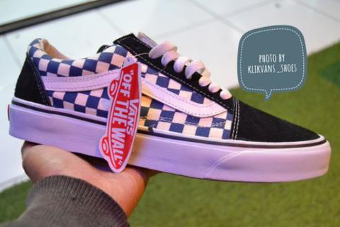 VANS OLD SKOOL ANAHEM CHECKERBOARD BLUE NAVY
