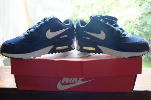 Terjual BNIB   Nike airmax for kids navy blue - white Original  4443d935d5