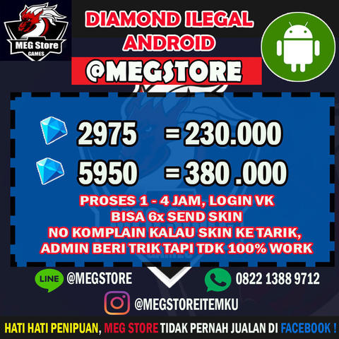 Terjual Jasa Top Up Diamond Ilegal Mobile Legends Android Only