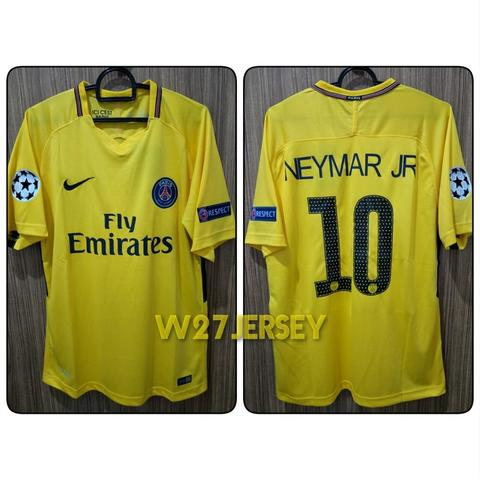 separation shoes d7079 cb90b JUAL Jersey PSG Away 2017/2018 name player Neymar Jr + Patch Champions  League