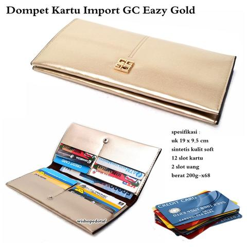Dompet kartu import GC eazy gold