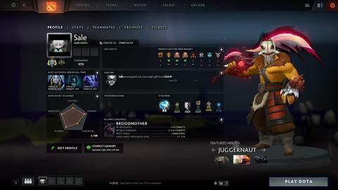 DOTA 2 ID Medal Archon 2 BP Level 164 ( Inven Banyak Imo ) + Game Left 4 Dead