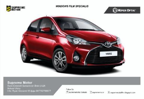Kaca Film Huper Optik Toyota Yaris Ceramic 40(20%)+Klassich Series