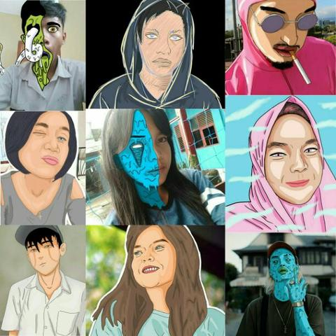 HADIAH ULANG TAHUN BIRTHDAY GIFT VISUAL DESIGN ART PAINTING DRAWING GRIME ART VECTOR