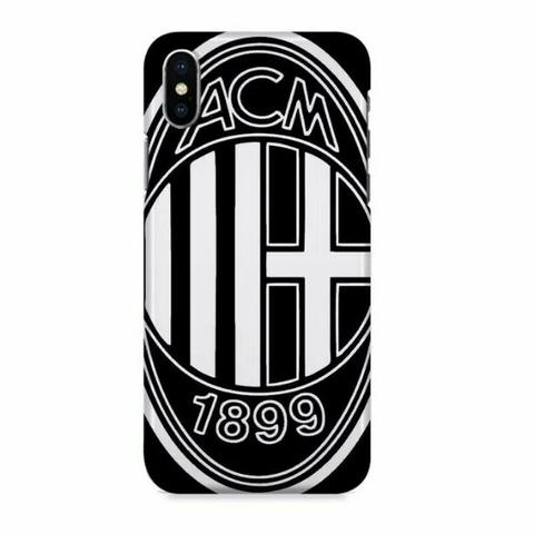 AC Milan Black Colour Logo iPhone X Custom Hard Case