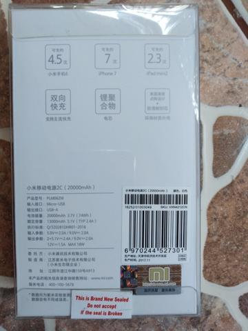 Powerbank Xiaomi 20000 mah segel original murahh