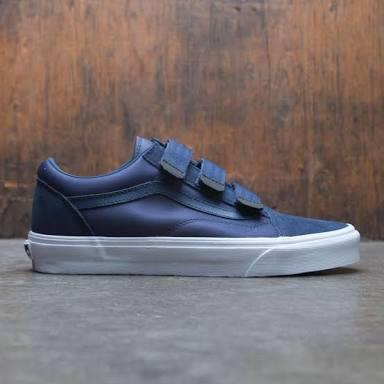 Vans old skool velcro blue navy size 10