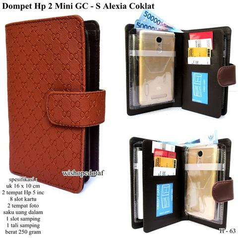 Grosir dompet 2 hp mini GC – S Alexia coklat