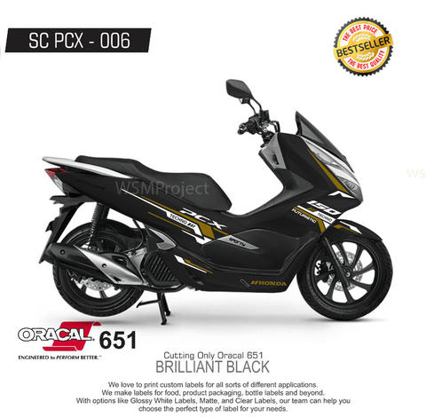 Cutting Sticker PCX Racing Minimalis 17 Terlaris