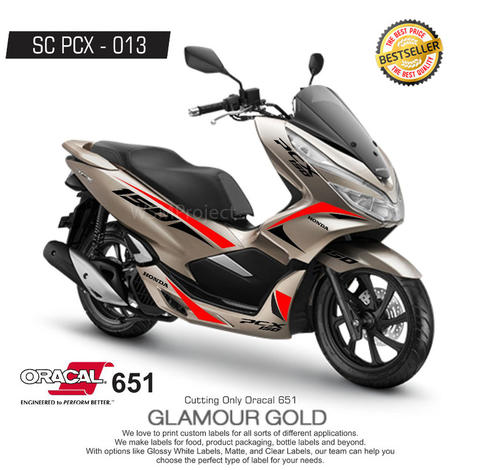 Cutting Sticker PCX Racing Minimalis 31 Bestseller