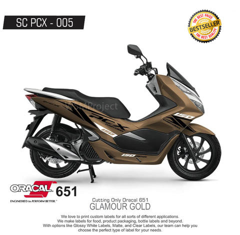 Cutting Sticker PCX Racing Minimalis 33 Bestseller