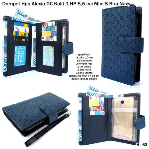 Dompet hp wanita alexia GC mini S-1 HP biru navy