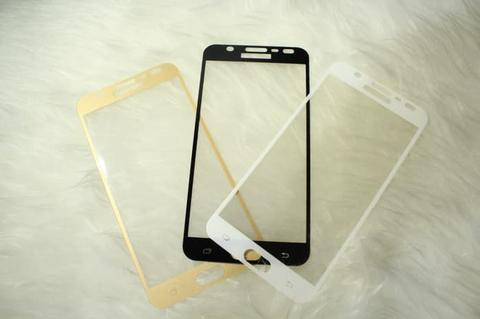 TEMPERED GLASS SAMSUNG J7 DUO COLOR FULL COVER TERMURAH