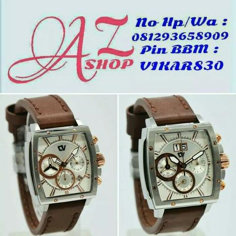 Jam Tangan Couple Christ Verra C70116G Silver Leather Kulit Original Murah