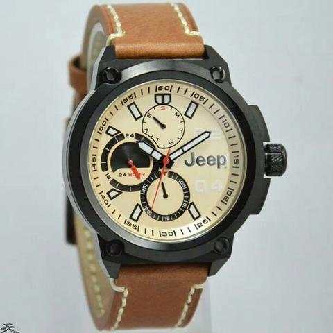 Jam Tangan Pria Jeep JPW62903 Leather Kulit Original Murah