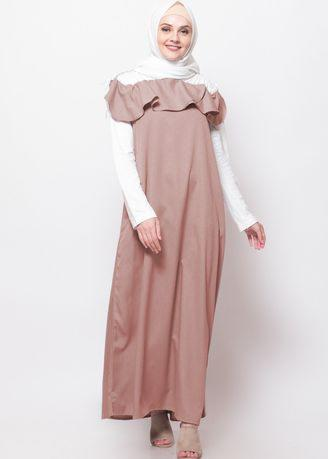 Ascani Dress - E Brown