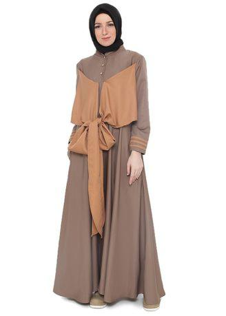 JAVA SEVEN Nuyama Women Muslim Fashion Brown