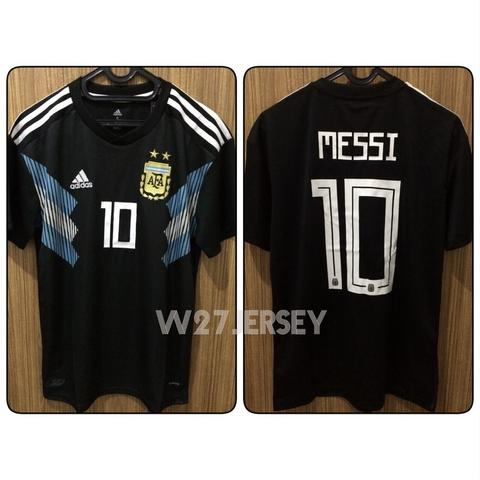 Jersey Argentina Away World Cup 2018 name player Messi