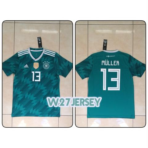 Jersey Germany Away World Cup 2018 name player Muller