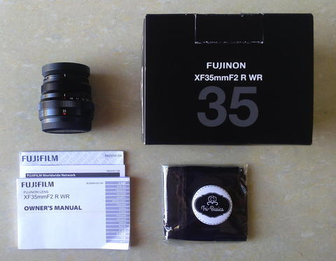 Lensa Fujifilm 35 mm f2 Fuji Fujinon XF 35mm f/2 R WR Super Like New Black [Bandung]